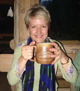 Have a coffee and celebrate leaving your husband at home!