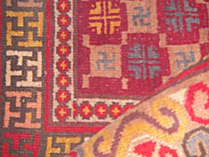 Detail of a Kashgar carpet