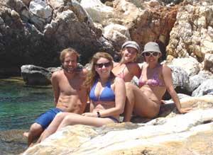 Lisa with friends in Turkey