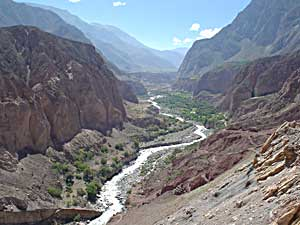 A breathtaking view of the Cotahausi River Valley on the 14 kilometer hiking route to the put-in - photos by Jess Tuerk