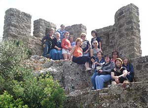 On the battlements of Obidos