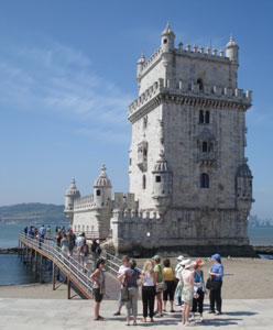 The Belem Tower, a fortified lighthouse, is a classic example of Manueline architecture.
