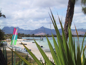 The shoreline in Mauritius - photos by Susan McKee