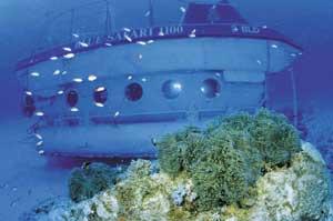 The Blue Safari submarine