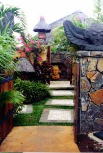 The entrance to my villa