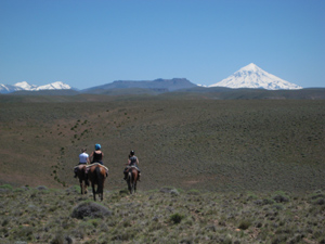 Riding toward the volcano - photos by Lauryn Axelrod.