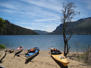 Kayaks get a lot of use in Patagonia too.