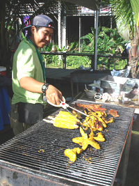Chicken Satay is the most famous food in Malaysia, served up from tiny wood grills.