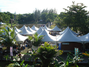 Sarawak Village is a showcase of native crafts and foods.