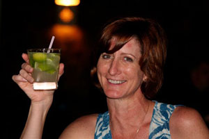 Enjoying Brazil's national cocktail, the caipirinha