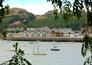 A view of the Quay Hotel and Spa looking across the estuary from Conwy (photo courtesy of the Quay Hotel)