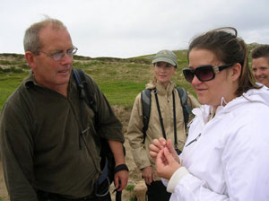 On a tour with local archaeologist Michael Gibbons, the group discovers a stick pin more than 1,200 years old.
