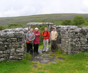 Viewing the ancient stoneworks of the Burren in Ireland