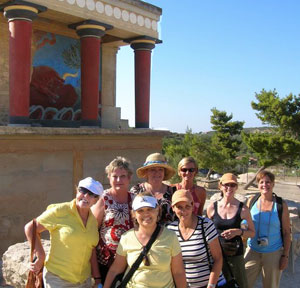 At the palace of King Minos in Knossos