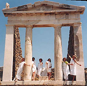Eurynome travelers at the Temple of Isis on the Greek island of Delos