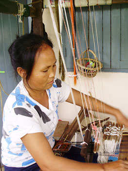 The women in Ban Hai are excellent weavers.