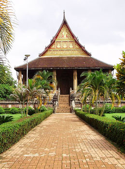 An example of Laotian architecture in Luang Prabang