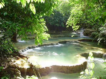 Laos' forests remain almost completely untouched. You can stumble across incredible waterfalls while trekking.
