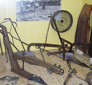 Farm tools at the Folklore Museum