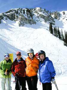 Women Skiing Utah