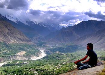 Overlooking Hunza Valley