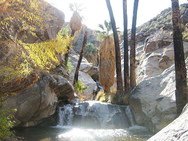 Seven Sisters Waterfall, Palm Springs, CA.