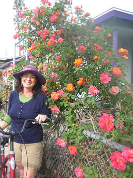 It's All Coming Up Roses: Bike riding in Venice Beach is the way to get around with ease.