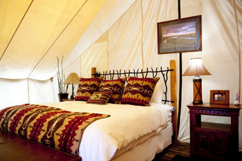 """At Paws Up, a luxury adventure resort outside of Missoula, a gal can go """"glamping"""" -- that's glamorous camping."""