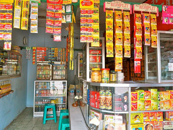 A commercial Jamu store selling herbal cures for just about anything you can think of