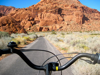 The view from my bike on West Canyon Road