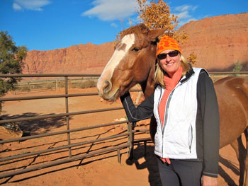 I earned the respect of Beryl, one of the beautiful wild horses at Windhorse in Kayenta, Utah.