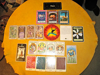 A view of my Life Path cards from my Shaman Reading