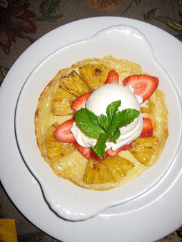 Pineapple Gratine at Suzanne's Cuisine