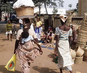 Women in the market in Lome. photo by AFP