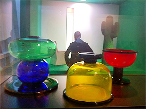Glasswear in the Vitra Design Museum, Basel.