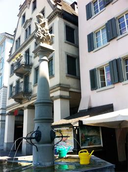 A fountain in Zurich.