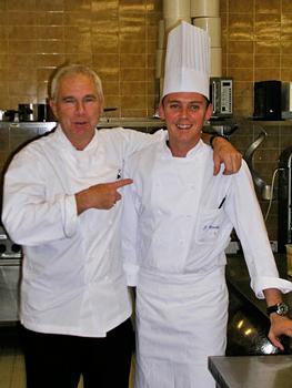 Professor/chef and student, Lausanne Hotel School
