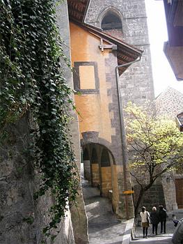 St Saphorin, a UNESCO world heritage site, is a middle ages era village.