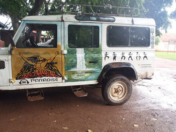 Ras Madesko's truck that goes to Volta Lake and other nature spots in Ghana.