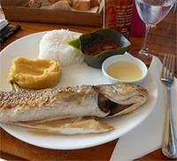 Fresh, salty, tasty...fish at Ti-Sable.