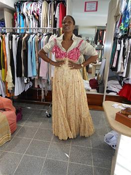 Mounia, a designer in Martinique.