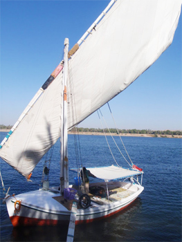 Felucca on the Nile near Aswan. A great way to see the country!.
