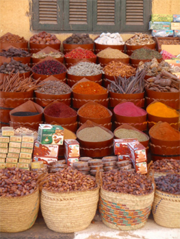 Spices in the Cairo souk.