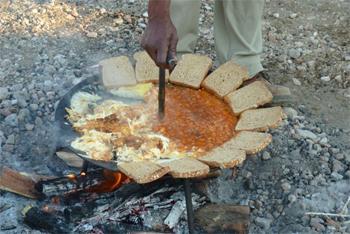Breakfast in the desert.
