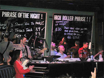 Dueling pianos at Howl at the Moon, in San Antonio.