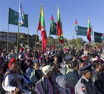 Chin Day Spectators gather to listen to a speech. Photos by Dina Bennett.