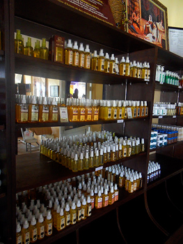 Argan oil for sale in Morocco.