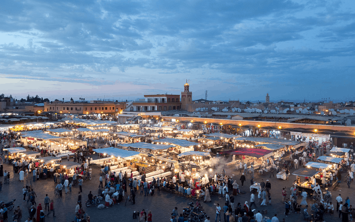 Marrakech's Jemaa el Fna outdoor cafe