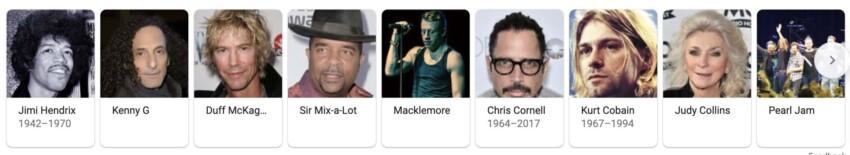 Famous Seattlelites