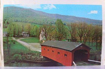 Covered bridge in Vermont's Battenkill Valley.